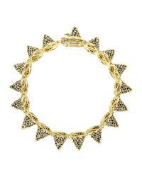 Eddie Borgo - Metallic Gold-plated Pavé Crystal Cone Bracelet - Lyst