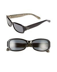 kate spade new york | Black 'adleyps' 54mm Sunglasses | Lyst