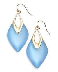 Alexis Bittar | 'lucite' Drop Earrings - Iridescent Ice Blue/ Gold | Lyst