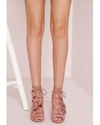 missguided ruffle back strappy rose or
