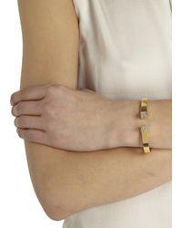 Vita Fede - Metallic Mini Omega Gold Tone Swarovski Embellished Bangle - Lyst