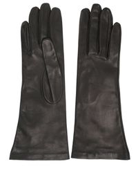 Mario Portolano | Black Nappa Leather Gloves | Lyst
