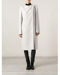Calvin Klein - Gray Straight Fitting Coat - Lyst