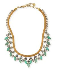 R.j. Graziano | Metallic Crystal Statement Necklace | Lyst