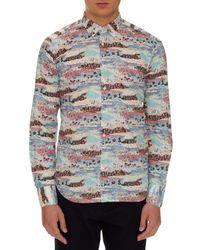 Bevilacqua - White David Floral-print Cotton Shirt for Men - Lyst