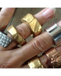 Linnie Mclarty - Metallic Monsta Gold Ring for Men - Lyst