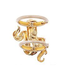 Mary Katrantzou | Metallic Octafish Bracelet Nude | Lyst