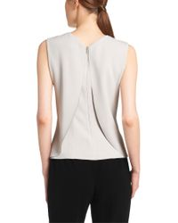 BOSS - Gray 'imarina' | Layered-back Shell Blouse - Lyst