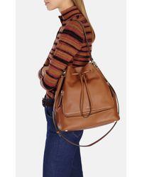 Karen Millen | Brown Structured Bucket Bag | Lyst