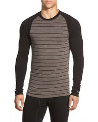 Smartwool | Brown 'nts Mid 250' Long Sleeve Crewneck T-shirt for Men | Lyst