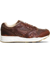 PUMA | Brown Trinomic Xt2 Leather Trainers for Men | Lyst