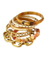 Ashley Pittman - Metallic Zito Mixed Bangle Set - Lyst