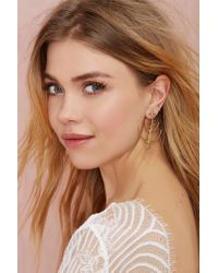Nasty Gal - Metallic Species By The Thousands Crop Circle Earrings - Lyst
