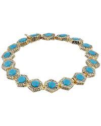 House of Harlow 1960 - Blue Hexes Tennis Bracelet - Lyst
