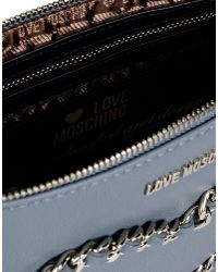 Love Moschino | Gray Clutches | Lyst