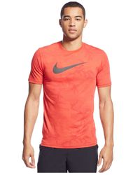 Nike | Red Diamond Camo Dri-fit T-shirt for Men | Lyst