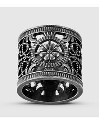 Gucci - Metallic Ring With Open Work Design for Men - Lyst