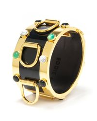 Eddie Borgo   Metallic Inlaid D Ring Cuff   Lyst