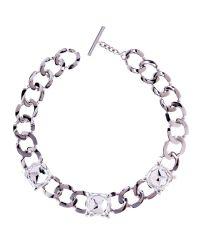 Karen Millen | Metallic Swarovski Crystal Eye Necklace | Lyst