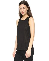 T By Alexander Wang - Black Poly Crepe Off The Shoulder Top - Lyst