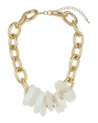 Mikey | White Multi Rings Metal Necklace | Lyst