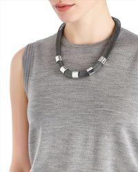 Jaeger | Gray Tubular Necklace | Lyst