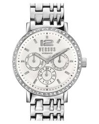 Versus | Metallic 'manhasset' Chronograph Bracelet Watch | Lyst