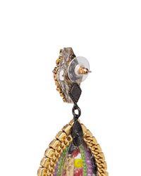 Erickson Beamon - Multicolor 'kumbaya' Crystal Bead Drop Earrings - Lyst
