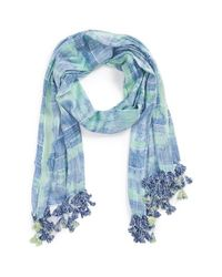 Vince Camuto - Blue Tie Dye Scarf - Lyst