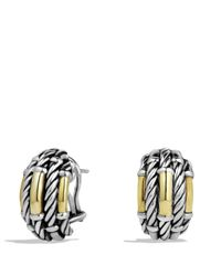 David Yurman | Metallic Metro Earrings With Gold | Lyst