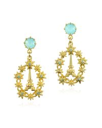 Les Nereides | Metallic Paris Mon Amour Suns And Eiffel Tower Post Earrings | Lyst
