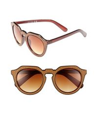 A.J. Morgan | Brown 'zipster' 50mm Sunglasses | Lyst