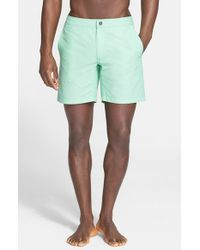 Onia | Green 'Calder' Swim Trunks for Men | Lyst