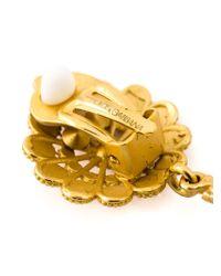 Dolce & Gabbana | Metallic Crowned Cherub Clip-on Earrings | Lyst