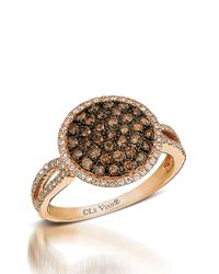 Le Vian | Pink 14kt Yellow Gold Brown And White Diamond Ring | Lyst