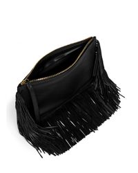 Pierre Hardy - Black Fringe Leather Zip Pouch - Lyst