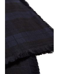 HUGO | Blue 'men-z' | Paisley Plaid Scarf for Men | Lyst