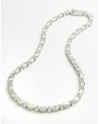 Nadri | Metallic Oval Cubic Zirconia Necklace | Lyst