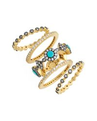 Freida Rothman | Metallic 'metropolitan' Stackable Rings | Lyst