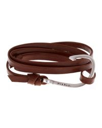 Miansai | Brown Burgundy Leather Wrap Bracelet for Men | Lyst