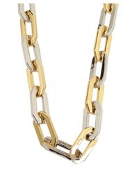 Rachel Zoe | Metallic Gold And Silver Signature Link Necklace | Lyst