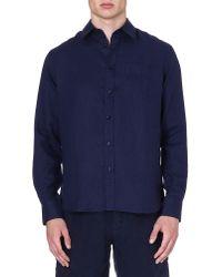 Vilebrequin | Blue Caroubier Linen Shirt for Men | Lyst