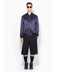 3.1 Phillip Lim - Blue Reversible Zip Up Bomber Jacket for Men - Lyst