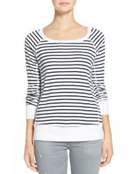 Splendid | Green 'venice Stripe' Sweatshirt | Lyst