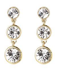 Givenchy - Metallic Gold-Tone Triple Drop Earrings - Lyst