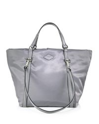 MZ Wallace - Gray Astor Small Nylon Tote - Lyst
