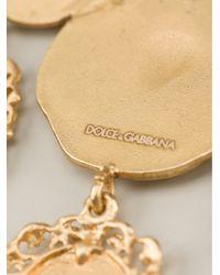 Dolce & Gabbana - Metallic Roman Coin Earrings - Lyst