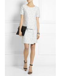 Calvin Klein - White Tarin Tweed Top - Lyst