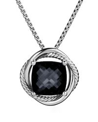 David Yurman | Infinity Medium Pendant With Black Onyx On Chain | Lyst