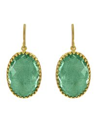 Larkspur & Hawk | Green Small Lily Drop Earrings | Lyst